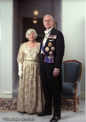 Sir Ninian and Lady Valerie Stephen - 1988 - LNA089