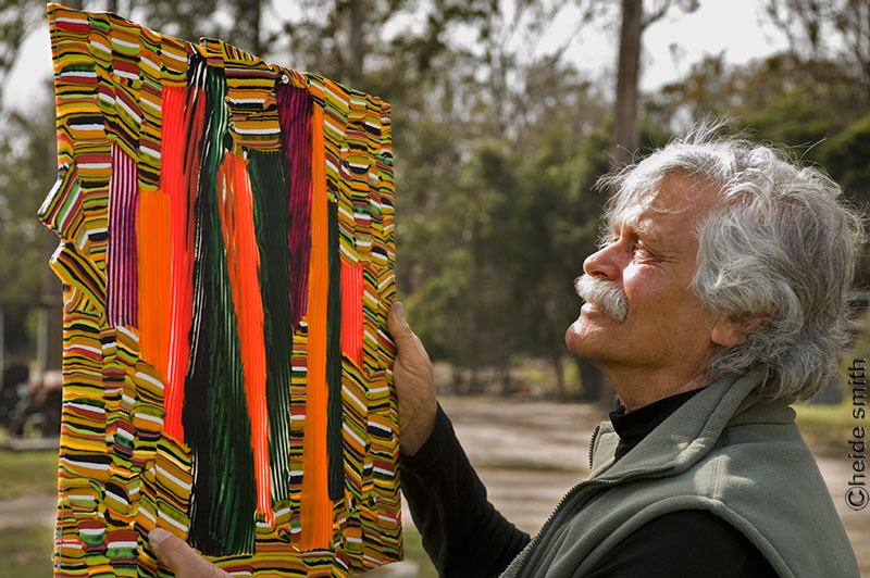 Klaus Moje glass artist photographed by Heide Smith NSW