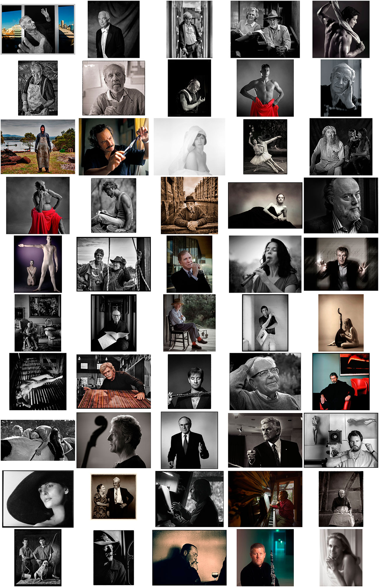 Contact sheet for Limited Edition Portrait Folio 1/3