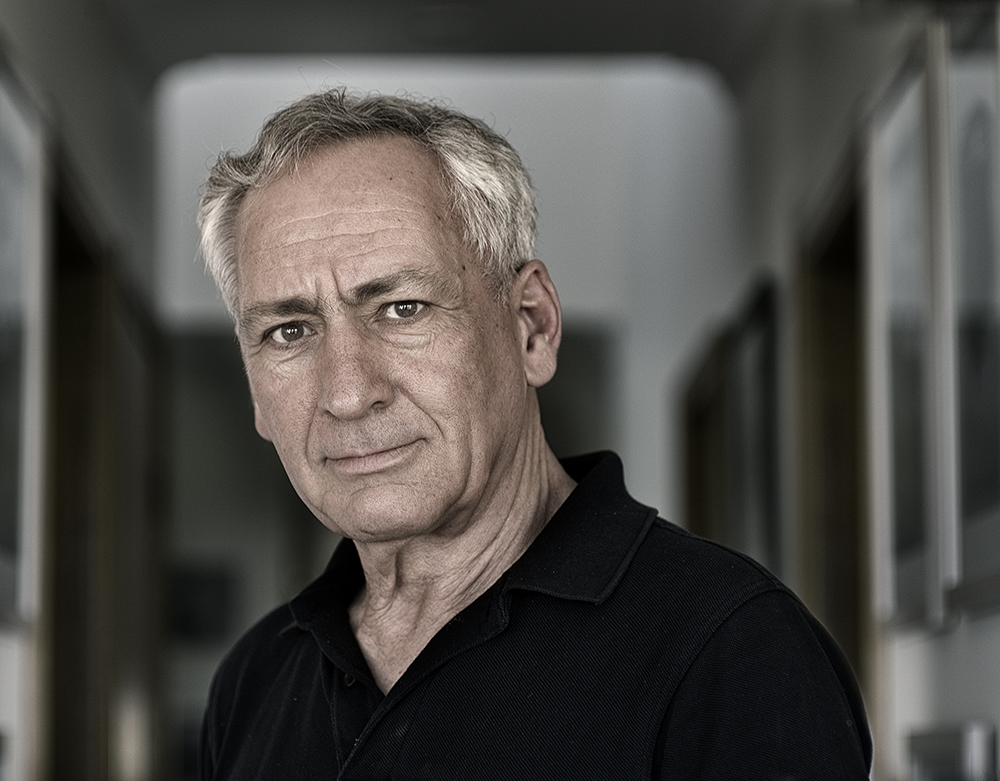 Portrait of Hon Dr Ken Crispin QC by photographer Heide Smith